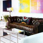 Icóno del estilo clásico ingles= el sofá chesterfield
