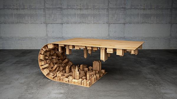inspirndose en el cine y la tecnologa d se desarrollan varios modelos de mesas nicas y originales que pueden marcar un estilo nico para cualquier